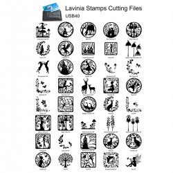 Lavinia USB CARD with 40 cutting files, for Cameo, ScannCut usw