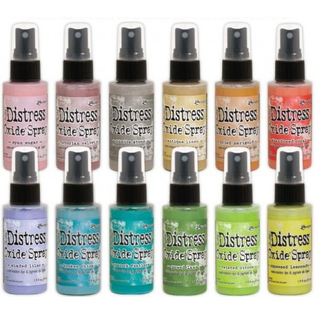 Tim Holtz distress oxide SPRAY SET 2 ALL NEW COLOURS