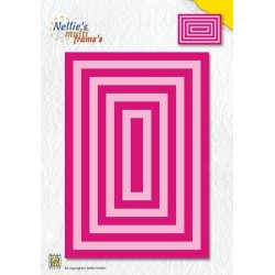 NELLIES CHOICE DIE SET RECTANGLE (9 DIES)