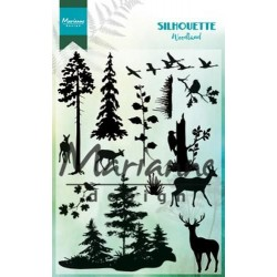 MARIANNE Design CLEAR STAMPS SILHOUETTE WOODLAND
