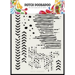 DUTCH DOOBADOO STENCIL MASK ART GRUNGE MIX
