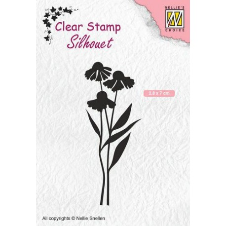 NELLIES CHOICE CLEARSTAMP DAISIES