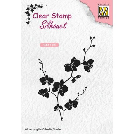 NELLIES CHOICE CLEARSTAMP BRANCH WITH FLOWERS