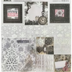 BO BUNNY WINTER WISHES FOIL VELLUM