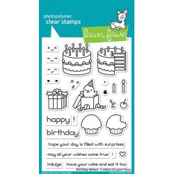 LAWN FAWN  BIRTHDAY BEFORE AND AFTERS CLEAR STAMPS