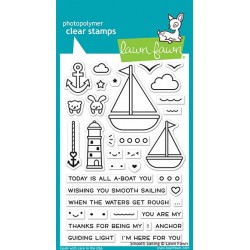 LAWN FAWN SMOOTH SAILING CLEAR STAMPS