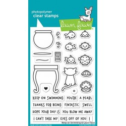 LAWN FAWN KEEP ON SWIMMING CLEAR STAMPS
