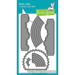 LAWN FAWN CUTS SHADOW BOX CARD RAINBOW  ADD-ON