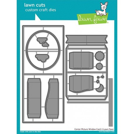 LAWN FAWN CUTS CENTER PICTURE WINDOW CARD