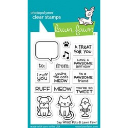 LAWN FAWNSAY WHAT? PETS CLEAR STAMPS