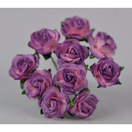 FLOWERS MULBERRY ROSE 15 MM PINK LILAC, 10 PCES