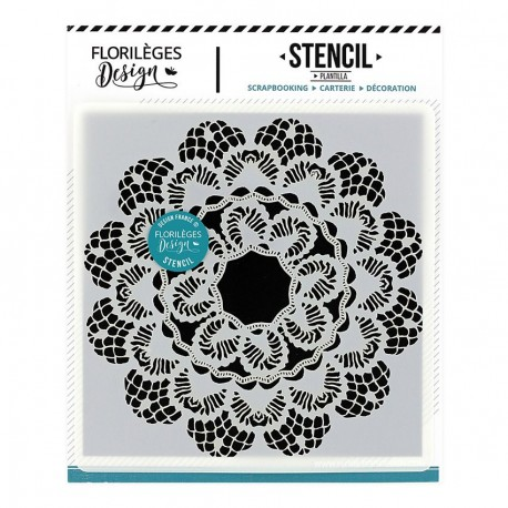 FLORILEGES DESIGN STENCIL Pochoir DENTELLE