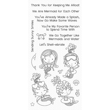 My favorite Things : MERMAID FOR EACH OTHER CLEAR STAMPS