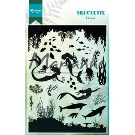 MARIANNE DESIGN CLEAR STAMPS SILHOUETTE OCEAN