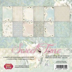 CRAFT&YOU SWEET TIME BIG PAPER SET - 30.5 X 30.5 CM