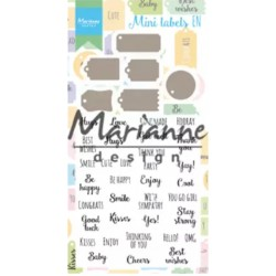 MARIANNE DESIGN SET CLEAR STAMPS & DIES MINI LABELS