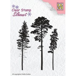 NELLIES CHOICE CLEARSTAMP 3 PINETREES