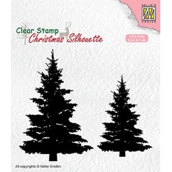 NELLIES CHOICE CLEARSTAMP SILHOUETTE FIR TREES