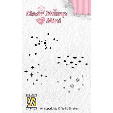 NELLIES CHOICE MINI CLEARSTAMP VARIOUS