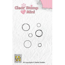 NELLIES CHOICE MINI CLEARSTAMP BUBBLES