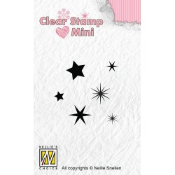 NELLIES CHOICE MINI CLEARSTAMP STARS