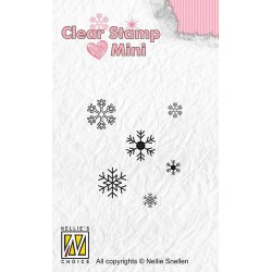 NELLIES CHOICE MINI CLEARSTAMP SNOWFLAKES