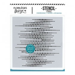 FLORILEGES DESIGN STENCIL Pochoir LIGNES DE POINTS CAPSULE JUILLET 19