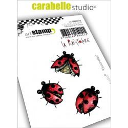 Carabelle cling stamp COCCINELLES par La Rafistolerie