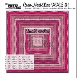 Crea-Nest-Lies XXL DIES no.81 CARRES AVEC PETITS TROUS