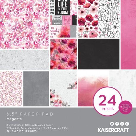 KAISERCRAFTMAGENTA PAPER PAD 16X16 CM
