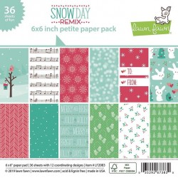 LAWN FAWN PAPER PAD SNOW DAY REMIX
