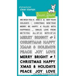 LAWN FAWN CLEAR STAMPS  offset sayings: christmas
