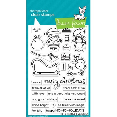 LAWN FAWN CLEAR STAMPS Happy ho-ho-holidays
