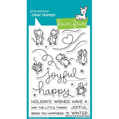 LAWN FAWN CLEAR STAMPS  MICE ON ICE