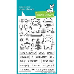 LAWN FAWN CLEAR STAMPS YETI OR NOT