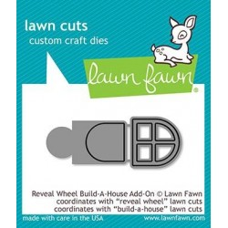 LAWN FAWN CUTS REVEAL WHEEL BUILD A HOUSE ADD-ON