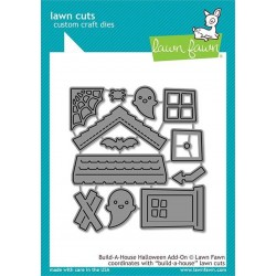 LAWN FAWN CUTS BUILD A HOUSE HALLOWEEN ADD-ON