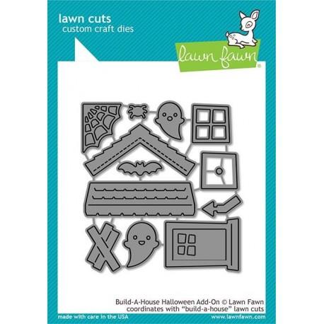 LAWN FAWN CUTS BUILD A HOUSE HALLOWEEN ADD-ON