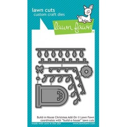 LAWN FAWN CUTS BUILD A HOUSE CHRISTMAS ADD -ON