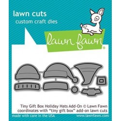 LAWN FAWN CUTS tiny gift box holiday hats add-on