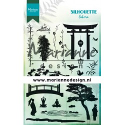 MARIANNE DESIGN CLEAR STAMPS SILHOUETTE SAKURA
