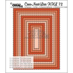 Crea-Nest-Lies XXL DIES no.72 RECTANGLES AVEC PETITS FESTON OUVERTS