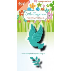 JoyCrafts DIES LITTLE HAPINESS PIGEON WITH TWIG / COLOMBE