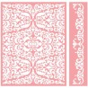 CUTTLEBUG EMB. FOLDER REFLECTED DAMASK