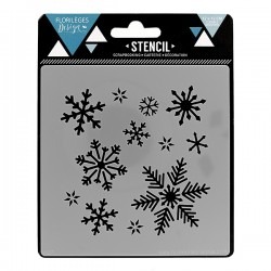 FLORILEGES DESIGN STENCIL FLOCON D'HIVER