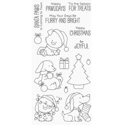 MFT  HAPPY PAWLIDAYS clear stamps