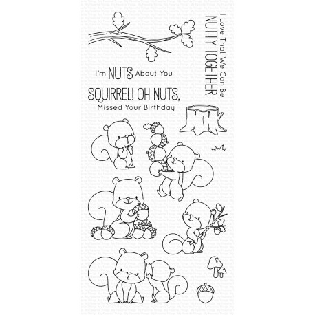 MFT  CLEAR STAMPS SQUIRREL !