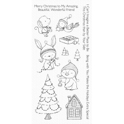 MFT  CLEAR STAMPS MERRY WISHES