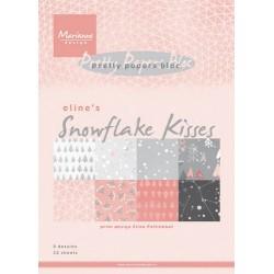 MARIANNE D PAPER PAD ELINE'S SNOWFLAKE KISSES 15x21 cm