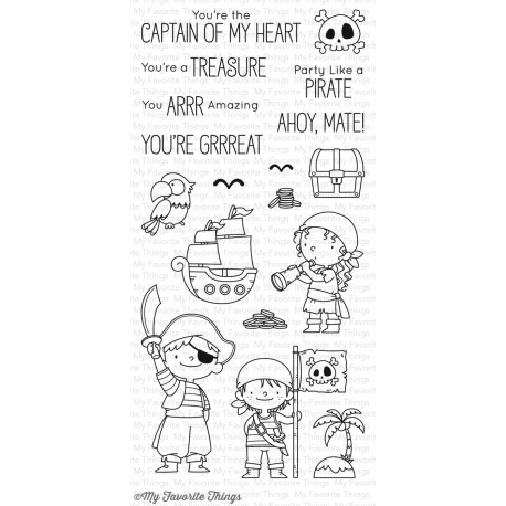 PARTY LIKE A PIRATE CLEAR STAMPS